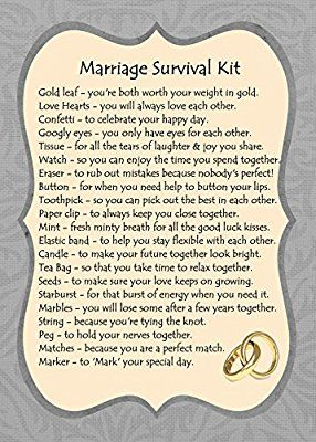 Marriage Survival Kit Gift Card Amazon Co Uk Kitchen Home