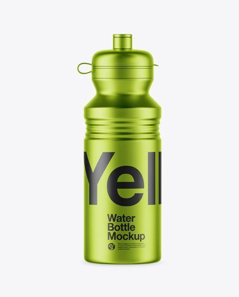 Download Metallic Sport Bottle Mockup In Bottle Mockups On Yellow Images Object Mockups Bottle Mockup Free Mockup Sport Bottle