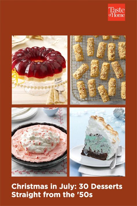 Have yourself a retro little Christmas in July with these classic desserts from the 1950s.