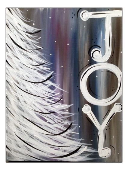 Canvas Painting Tutorials, Easy Canvas Painting, Winter Painting, Diy Canvas, Diy Painting, Christmas Paintings On Canvas, Christmas Tree Painting, Christmas Art, Xmas