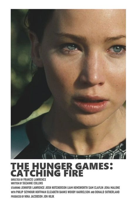The Hunger Games: Catching Fire minimal A6 movie poster