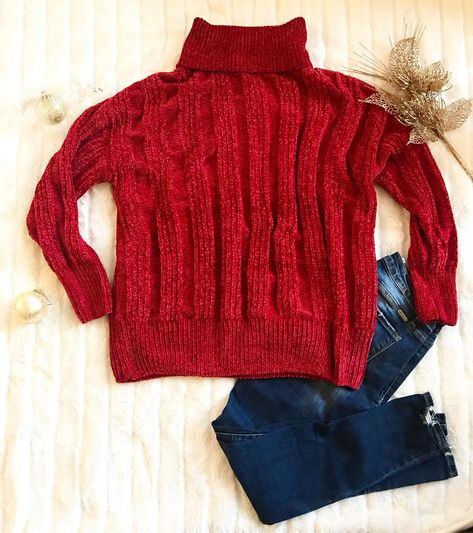 "Taily Rose Boutique on Instagram  ""Christmas Eve Sweater in red! This  sweater is so oversized and feels like you are literally wearing a blanket! c9da25a80"