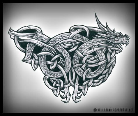 648d9991b Celtic Dragon by ~H3LLB0uND on deviantART | Norse Tattoo | Celtic ...