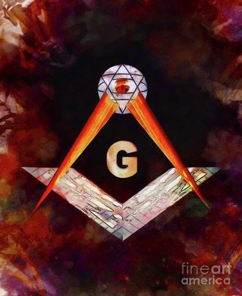 Painting - Masonic Symbolism by Esoterica Art Agency #affiliate , #ad, #AFFILIATE, #Symbolism, #Agency, #Art, #Masonic
