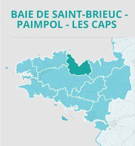 Baie De Saint Brieuc Paimpol Les Caps Carte Bretagne