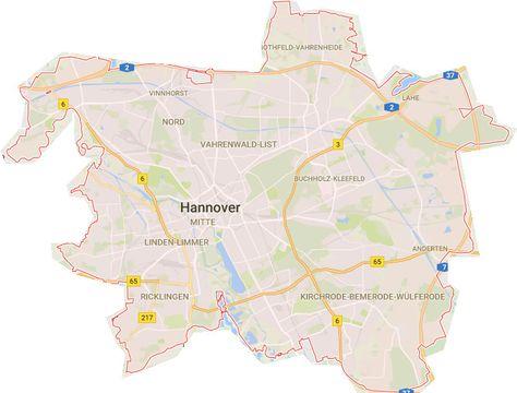 Hannover Karte Stadtteile Mit Bildern Karten Landkarte Planer