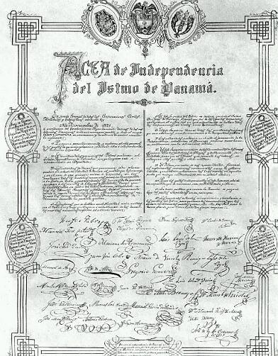 Acta De Independencia Panama 1821 Panama Espana Primer Grito De Independencia