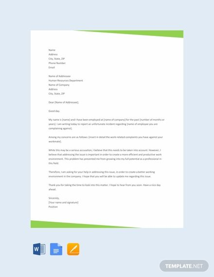 Free Complaint Letter To Hr Lettering Letter Templates