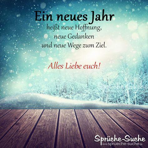 """""""Ein neues Jahr heißt neue Hoffnung, neue Gedanken und neue Wege zum Ziel."""" ➔ Weitere schöne Sprüche und Wünsche zu Silvester und Neujahr gibt's hier!"""