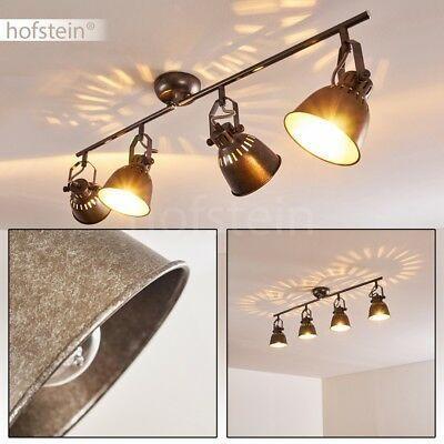 Retro Decken Lampe silbergrau Wohn Schlaf Raum Spot Küchen Strahler verstellbar