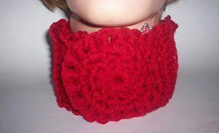 Bullion Stitch Neckwarmer free #crochet pattern