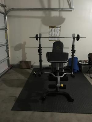 Gold S Gym Xrs 20 Adjustable Olympic Workout Bench With Squat Rack Leg Extension Preacher Curl And Weight Storage Walmart Com Squat Rack Golds Gym Gym