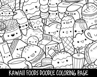 Dining Doodles Breakfast Lunch Dinner Food Coloring Pages For