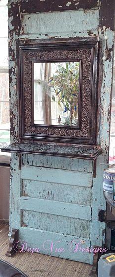 Old door turned hall tree...Swweeettt!