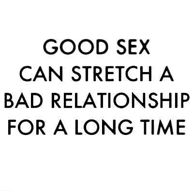 Great sex but bad relationship
