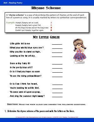 29++ Cool rhyme scheme worksheet ideas