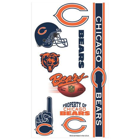 NFL® Chicago Bears™ Tattoos | Products | Chicago bears tattoo, Bear ...