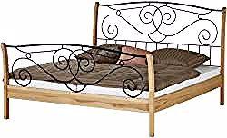 Bettgestell Holzfarben 168 Cm 129 Cm Betten Bettgestelle