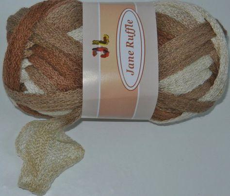 3 sk Jane Ruffle Frilly mesh Net style yarn 3 colors lot mix#1