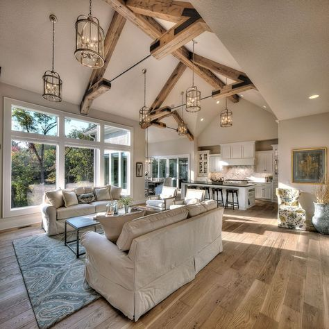 46 The Best Vaulted Ceiling Living Room Design Ideas Trendehouse Vaulted Ceiling Living Room Farm House Living Room Farmhouse Decor Living Room