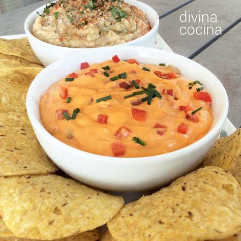 Los dips son preparaciones cremosas, de más o menos consistencia, que se sirven en bol o en salsera, y que los comensales van tomando acompañados con tostaditas, crackers o galletas saladas.