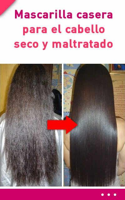 mascarillas caseras para el cabello dañado y seco