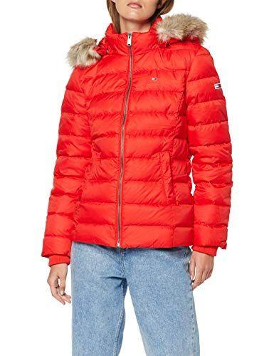 Tommy Jeans Femmes Hiver Veste Manteau Doudoune Essential coat noir//navy