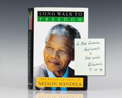 Long Walk To Freedom The Autobiography Of Nelson Mandela Rare Books Books Autobiography