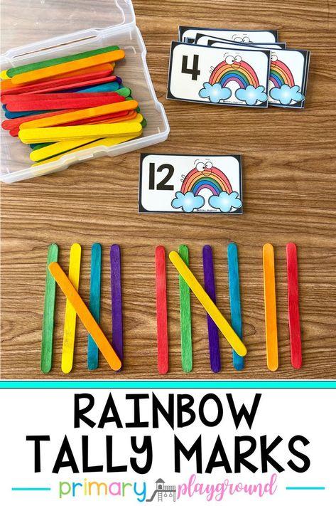 Rainbow Tally Marks - Primary Playground