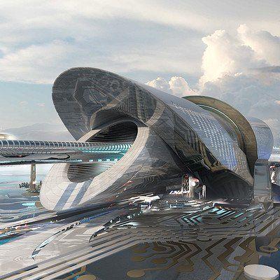 dream rooms for women Architecture Unique, Futuristic Architecture, Chinese Architecture, Architecture Office, Floating Architecture, Futuristic City, Futuristic Technology, Energy Technology, Technology Gadgets