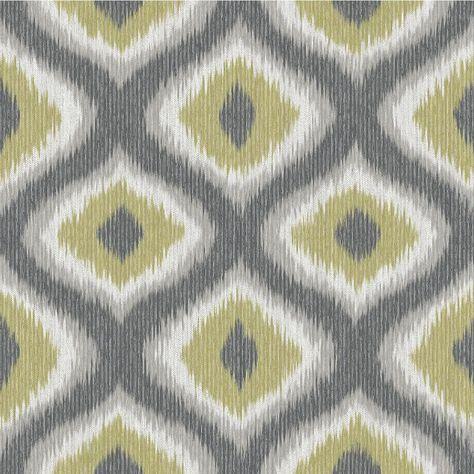 8 in. x 10 in. Abra Green Ogee Wallpaper Sample