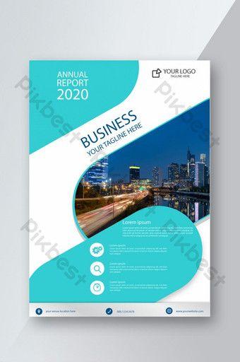 قالب غلاف التقرير السنوي للأعمال الإبداعية الجديدة للشركات Pikbest Templates Annual Report Annual Report Covers Cover Template