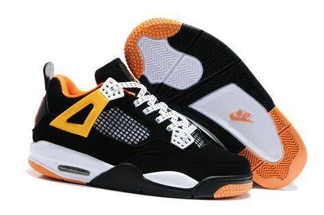 12df0392925c17 Air Jordan 4 Kids Black Team Orange Tour Yellow