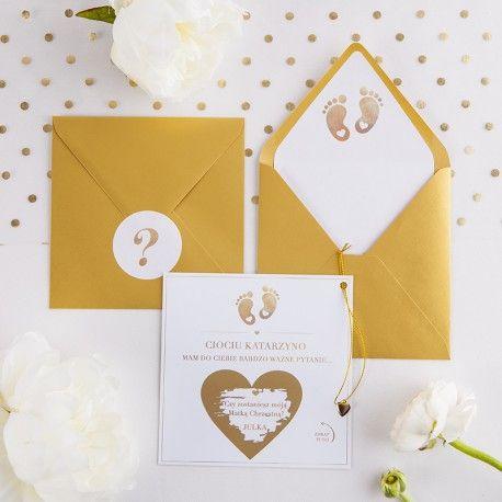 Pin By Leonkameleon Pl On Prosba O Bycie Rodzicem Chrzestnym Place Card Holders Place Cards Gift Wrapping