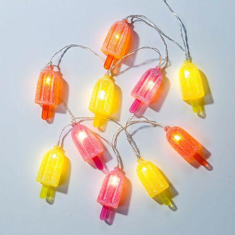 10 ampoules en forme de glace à accrocher dans une chambre ou dans votre salon pour une fête ou anniversaire !