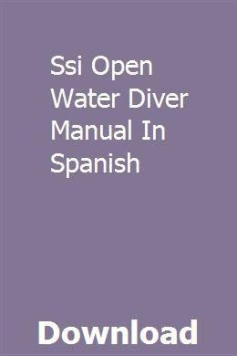 Open water diver ssi open water manual 2016 png image with.