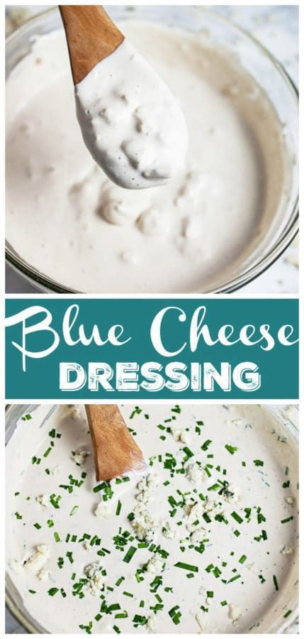 This Blue Cheese Dressing Recipe Is Homemade And So Easy To Make It S Made With Sou Blue Cheese Dressing Recipe Blue Cheese Dressing Blue Cheese Dipping Sauce