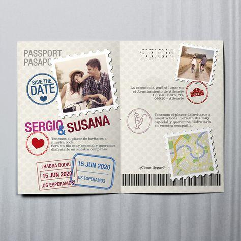 Resultado De Imagen Para Invitaciones De Boda Tipo Pasaporte