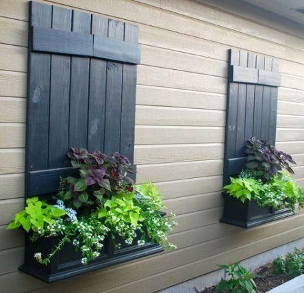 45 Trendy Old Wood Texture Colour Wood Fake Window Window Trim Exterior Garage Windows