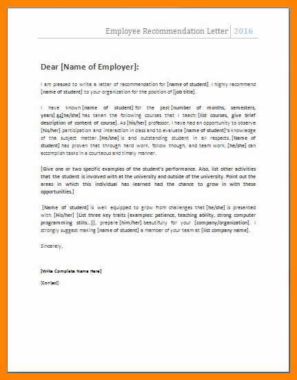 Microsoft Word Letter Of Recommendation Templates from i.pinimg.com