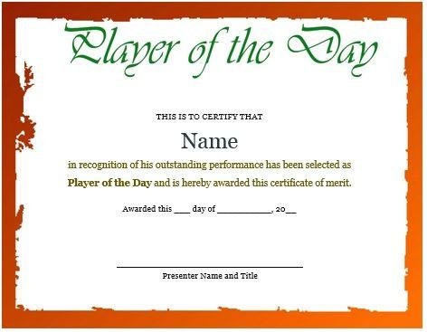 Netball Participation Certificate Netball Certificates Pinterest