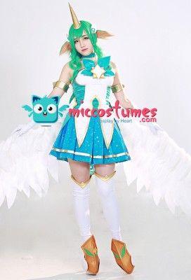 LOL League of Legends Star Guardian Soraka Cosplay Costume Fancy Dress Full Set