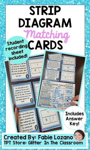 Strip Diagram Matching Cards Glitter In The Classroom