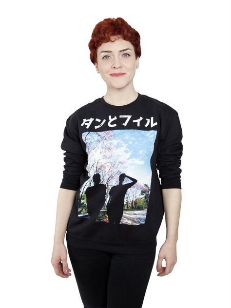 Dan And Phil Christmas Sweater.Black Sweatshirt Featuring Silhouettes Of Dan And Phil Ready