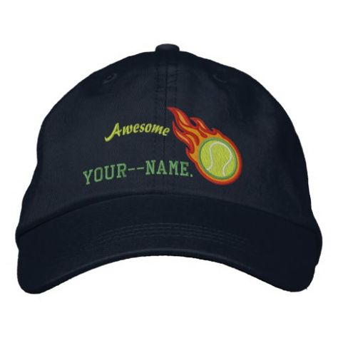 1d9c557752b04 Personalized Racing Flames Tennis Bullet Badge Embroidered Baseball ...