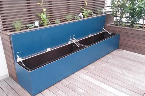 Sitzbox Mit Wasserfestem Stauraum Gartentruhe Gartenbox Sichtschutz Terrasse Holz