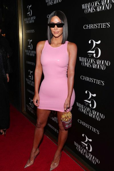 Kim Kardashian attends the What Goes Around Comes Around 25th Anniversary Auction Beverly Hills Preview.