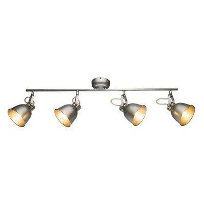 4-flammige LED Decken Leuchte verstellbar Wohn Schlaf Zimmer Lampe Flur Strahler