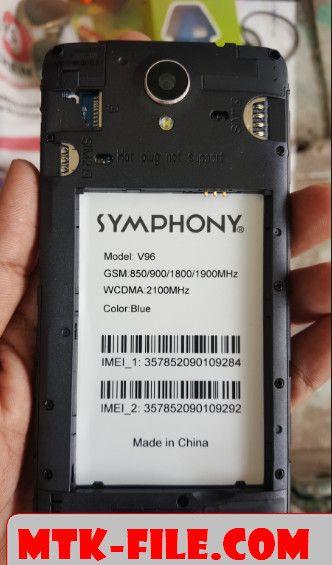 Symphony V96 Flash File (V96_HW1_V9) Firmware Free 100