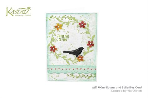 MT1900m Blooms and Butterflies Card